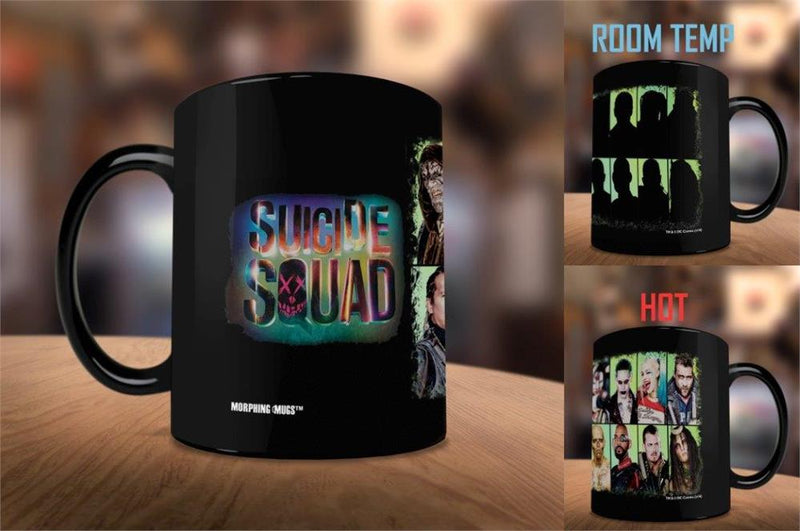 Suicide Squad Morphing Mugs Heat-Sensitive Mug with Harley Quinn and Joker