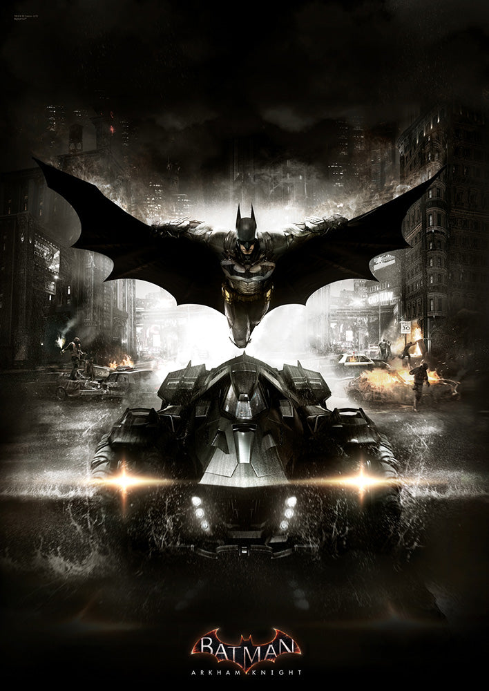 Batman Arkham Knight (The Batmobile) MightyPrint Wall Art
