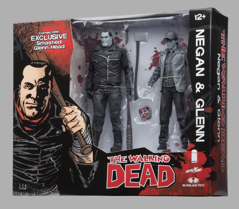 SDCC 2016 Exclusive Skybound Negan & Glenn B&W Action Figure 2-Pack - Toy Wars - McFarlane Toys - 1