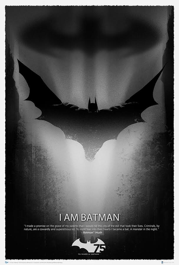 Batman 75th Anniversary Art Print