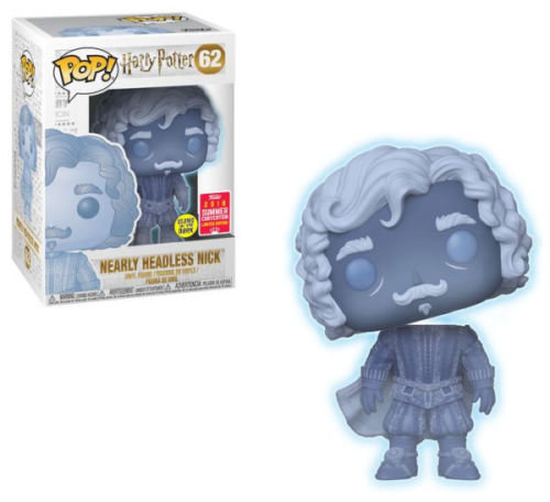 SDCC 2018 Summer Convention Exclusive Harry Potter Nearly Headless Nick (Glow-in-the-Dark) Pop! Vinyl Figure