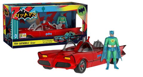 SDCC 2017 Exclusive Red Batmobile with Green Batman Figure LE 1500
