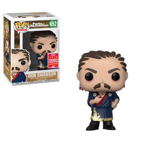 SDCC 2018 Summer Convention Exclusive Parks & Recreation - Ron Swanson with Cornrows Pop! Vinyl Figure