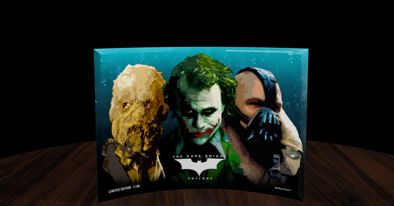 "SDCC 2013 Exclusive Dark Knight Batman ""Rogues Gallery"" StarFire Glass Print"