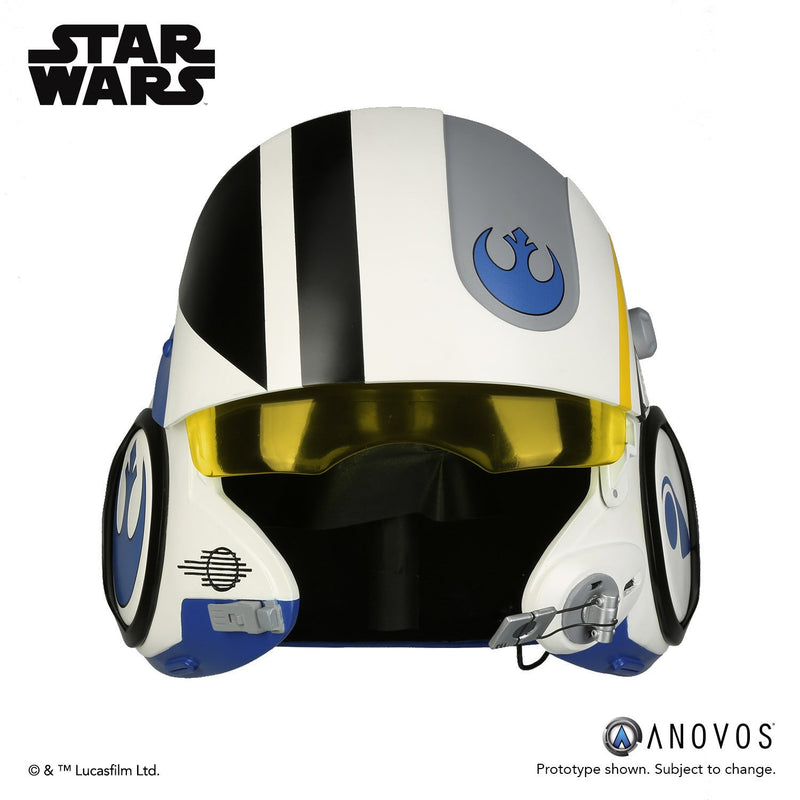 Preorder Q2 2018 Star Wars The Force Awakens Poe Dameron Blue Squadron Helmet