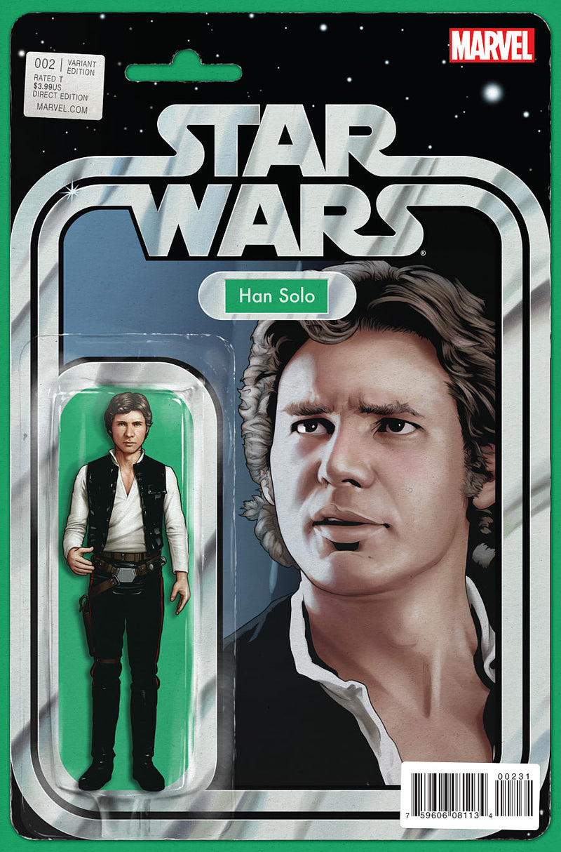 Star Wars #2 Action Figure Han Solo Variant Comic Book