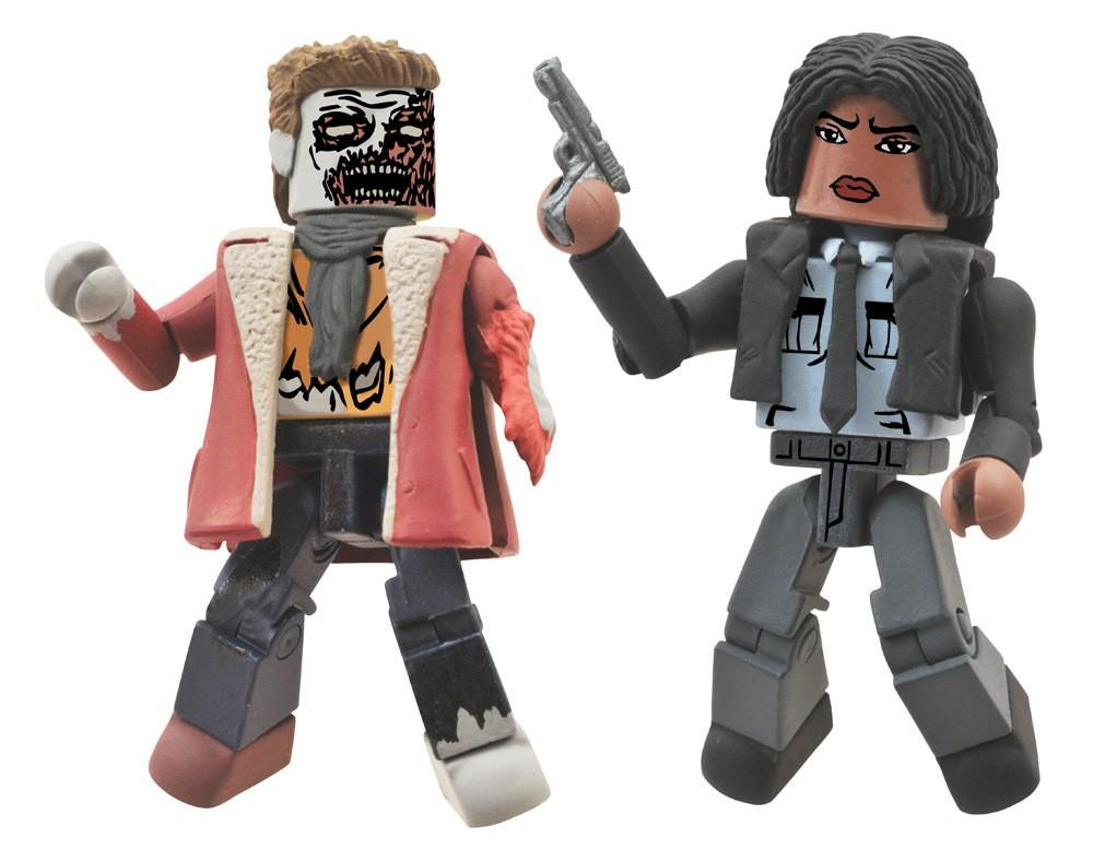 Walking Dead Minimates Series 6 Deputy Michonne & Winter Zombie Figures