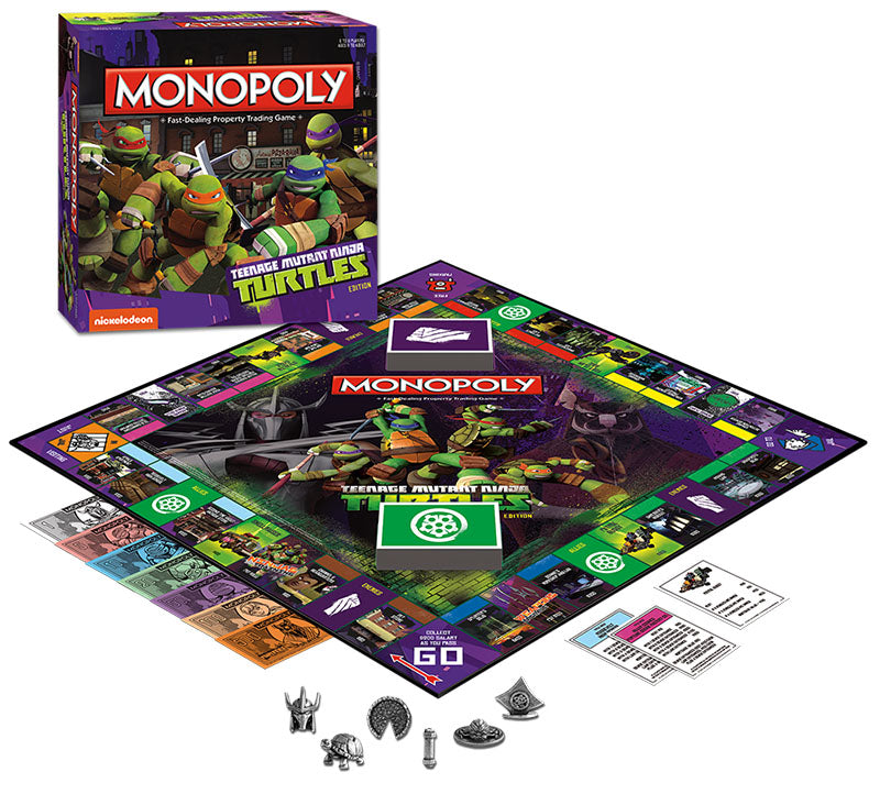 TMNT Teenage Mutant Ninja Turtles Nickelodeon Monopoly