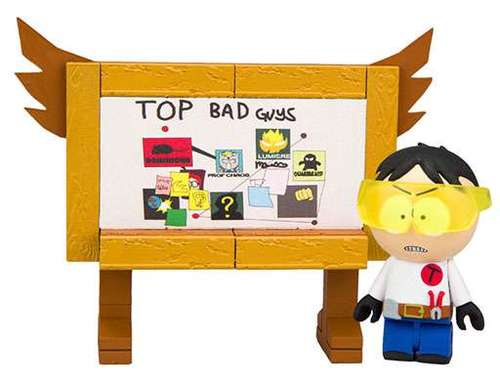"South Park ""Toolshed"" Stan with Top Bad Guys Board Micro Construction Set"