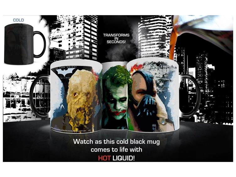 Morphing Mug Batman Dark Knight Trilogy (Rogues Gallery) Ceramic Mug
