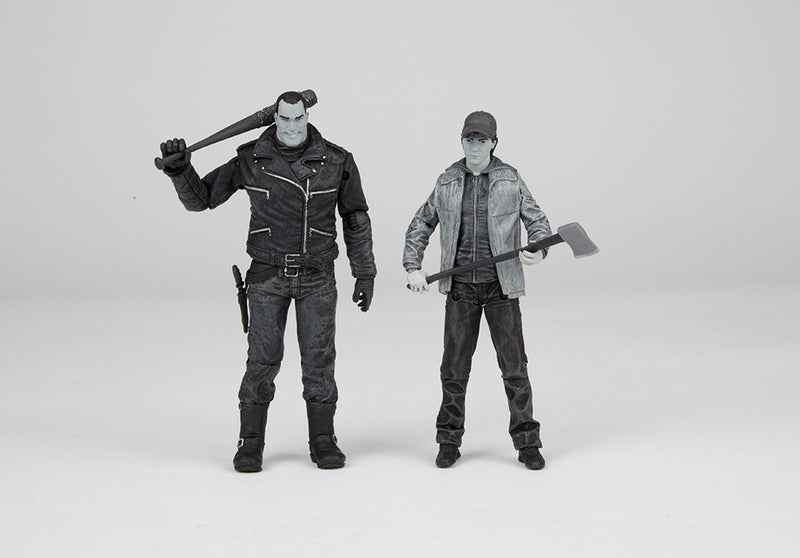 SDCC 2016 Exclusive Skybound Negan & Glenn B&W Action Figure 2-Pack - Toy Wars - McFarlane Toys - 2