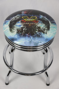 Street Fighter Arcade Coffee Table Bar Stool 55cm with Swivel - Games Arcadia