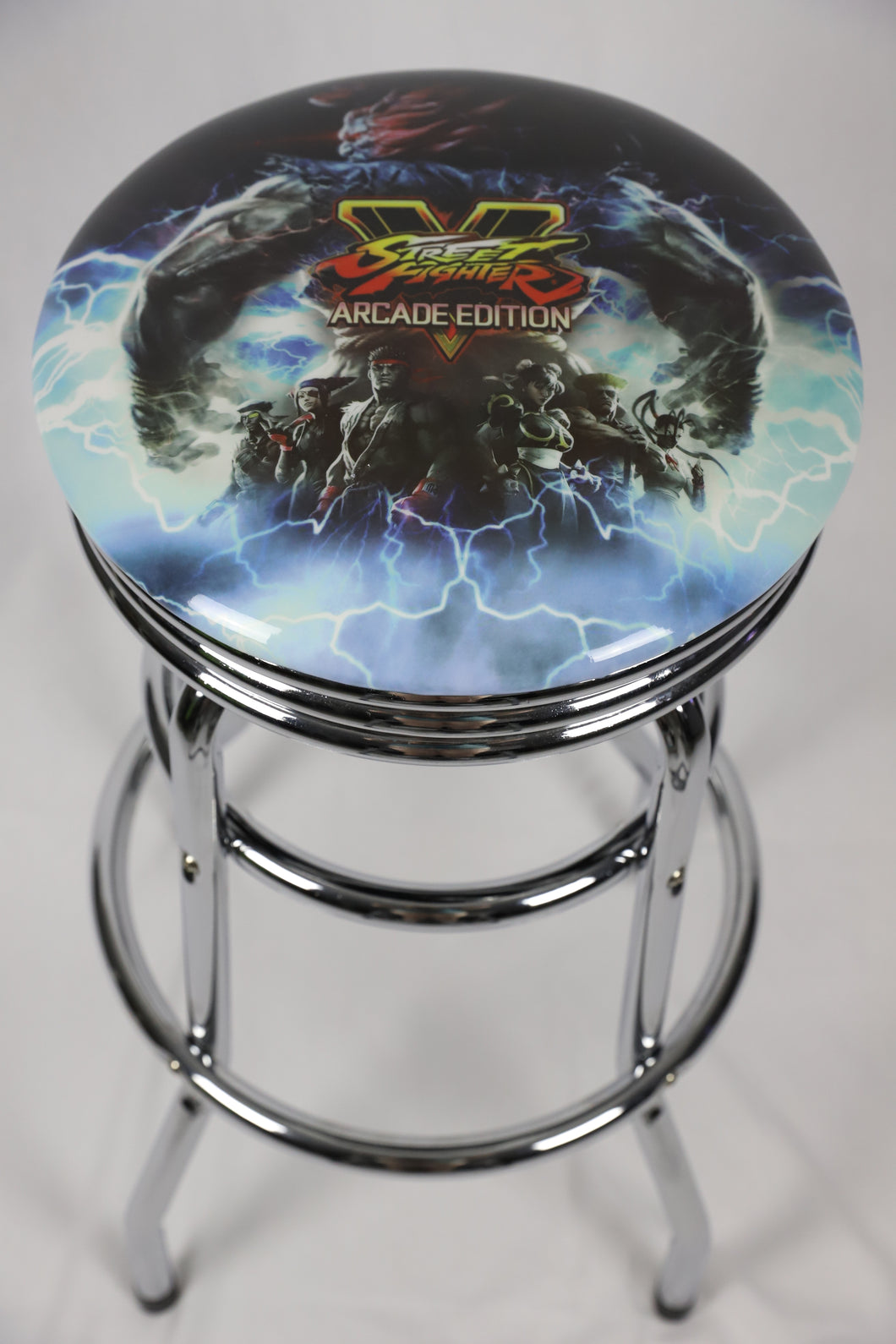 Street Fighter Arcade Bar Stool 78cm with Swivel - Games Arcadia