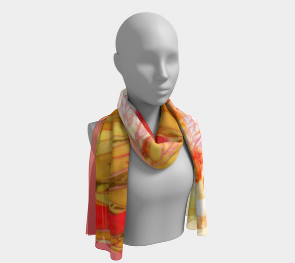 Image of Sunny Afternoon (on copper-yellow): 100% SILK: Mila Lansdowne Designer Scarf
