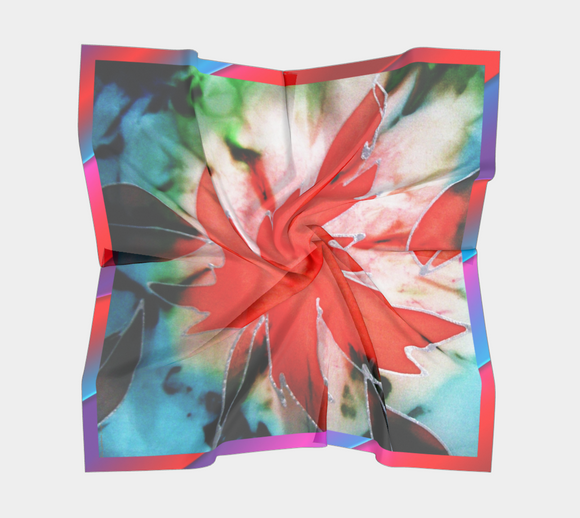 Image of Maple Leaf Power Scarf 100% Silk - Mila Lansdowne Designer Collection (variant