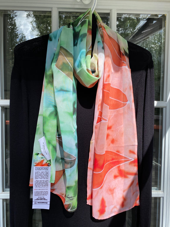 Image of Mila Lansdowne designer scarf from the collection In Love With Maple Leaves.