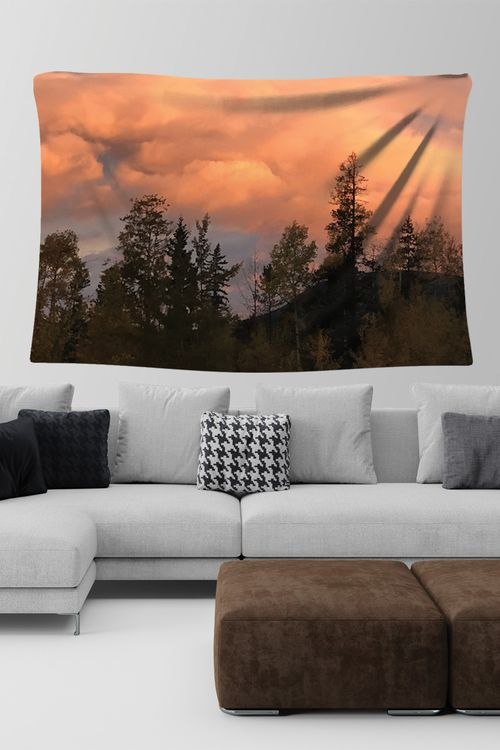 Wall Tapestry from Mila Lansdowne Designer Home Collection Morning Sky.