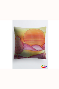 "Image of a Designer pillow by Mila Lansdowne, 18x18""  collection Vibrant Sundown"