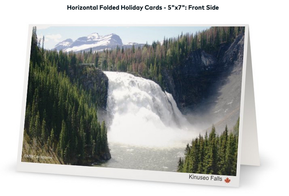 Image of Kinuseo Falls Canadian Northern Beauty - Folded Greeting Card ( approx. 5