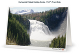 "Image of Kinuseo Falls Canadian Northern Beauty - Folded Greeting Card ( approx. 5""x7"") front"