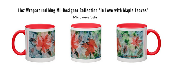 Image of In Love with Maple Leaves  - 11oz Wraparound Mug Designer Collection (in stock).