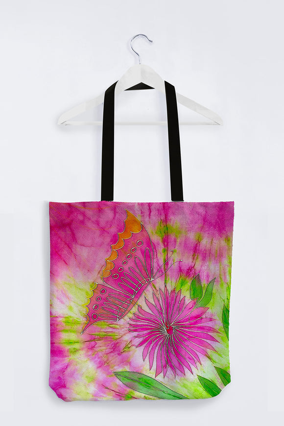 Image of Mila Lansdowne Designer Tote Bag from the collection  Butterfly & Dahlia.