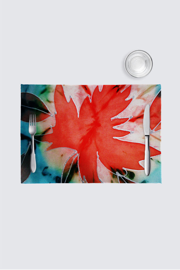 Image of a place mat from Mila Lansdowne Home Collection called Maple Leaf Power - In love with Maple Leaves.