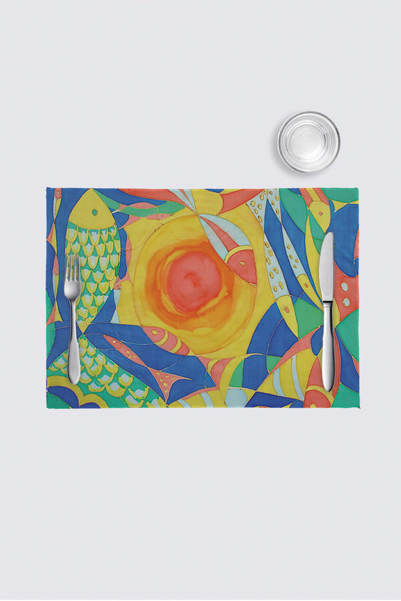 Image of a placemat from Mila Lansdowne Home collection Ocean of Plenty