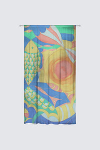 image of a fine curtain from Mila Lansdowne Designer Collection Abundance.