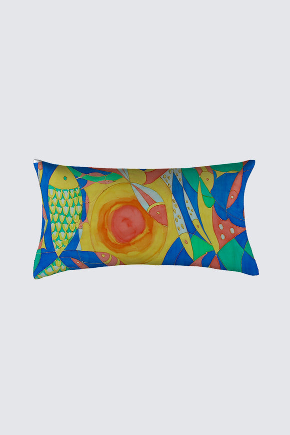Image of oblong pillow from Mila Lansdowne Designer Home Collection Ocean of Plenty