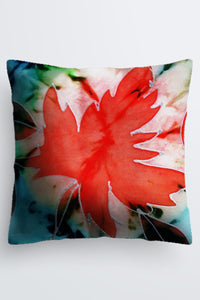 "Image of a Designer pillow by Mila Lansdowne, 18x18"" collection Maple Leaf Power."