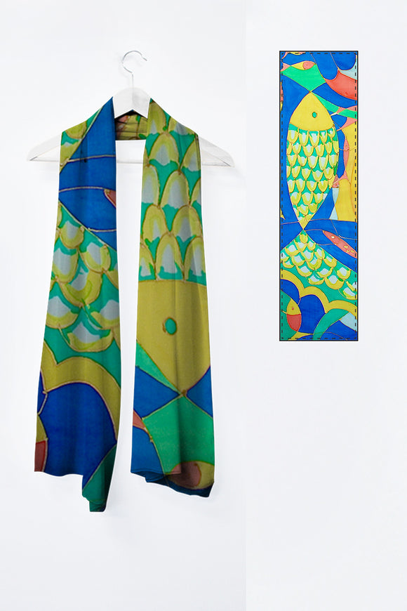 Image of Mila Lansdowne designer scarf from the collection Abundance.