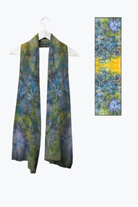 Image of Mila Lansdowne's designer scarf from the collection Tranquil Garden.