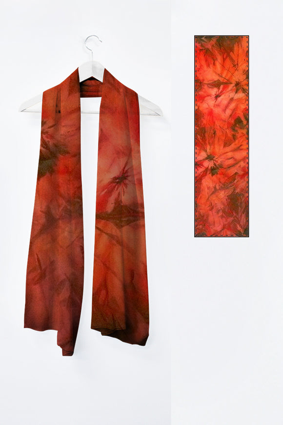 Image of Mila Lansdowne designer scarf from the designer collection Garden of Passion.