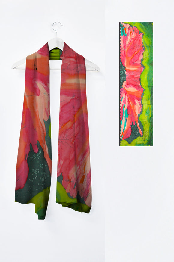 Image of Mila Lansdowne's designer scarf from the collection The Magic of Aurora Borealis.