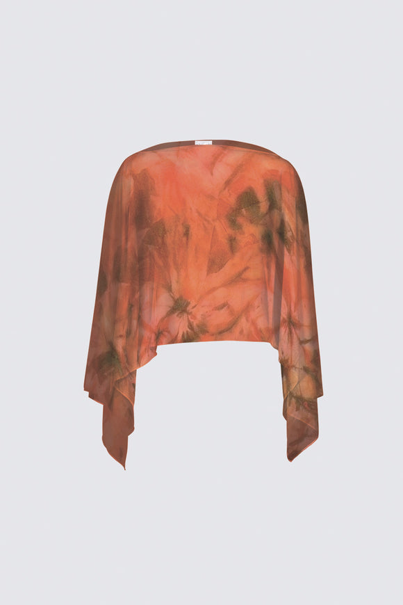 Image of a closed chiffon shawl from Mila Lansdowne Design collection Garden of Passion