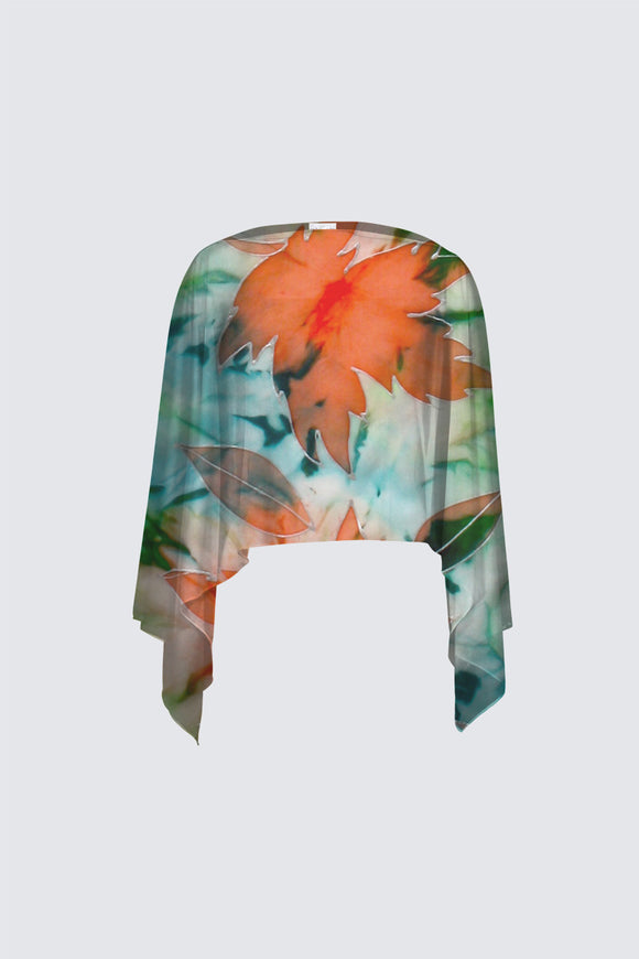 In Love With Maple Leaves: Closed Shawl in Mila Lansdowne Design