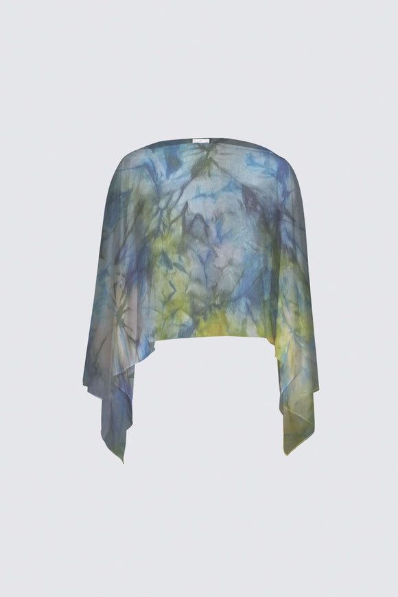 Image of a closed chiffon shawl from Mila Lansdowne Design collection Tranquil Garden.
