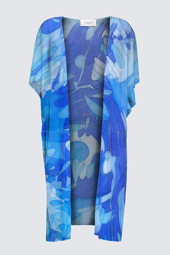 Image of a Designer Kimono-Style Wrap in Mila Lansdowne Designer Collection called  Inner Peace.