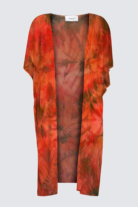 Image of a Designer Kimono-Style Wrap in Mila Lansdowne Designer Collection called Garden of Passion.