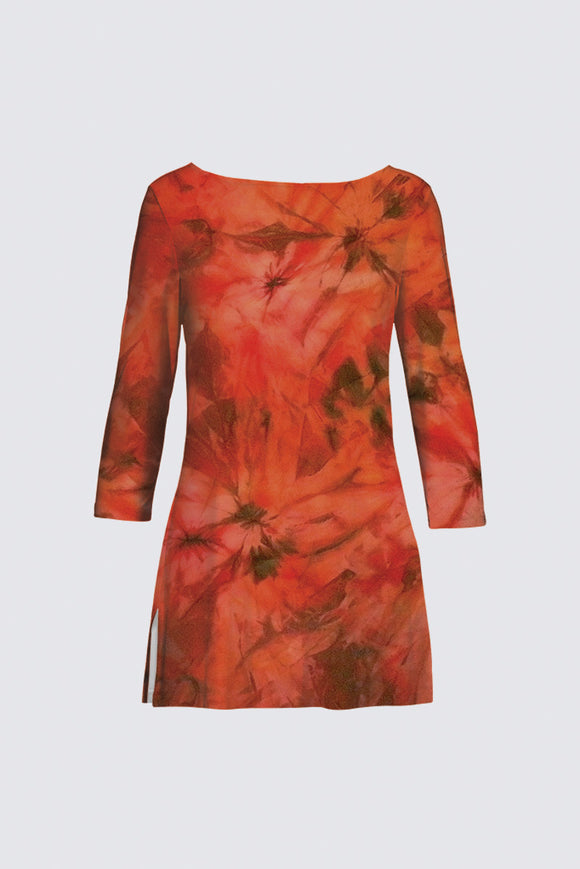 image of Mila Lansdowne Design Boatneck Tunic from the collection Garden of Passion.