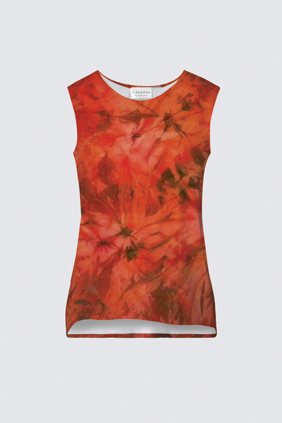 Image of a tank top from Mila Lansdowne designer collection  Garden of Passion.