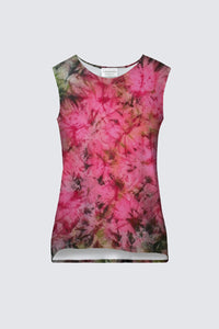 "Image of a tank top from Mila Lansdowne designer collection called ""Romantic Garden""."