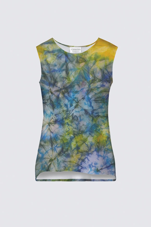 Image of a tank top from Mila Lansdowne designer collection Tranquil Garden.
