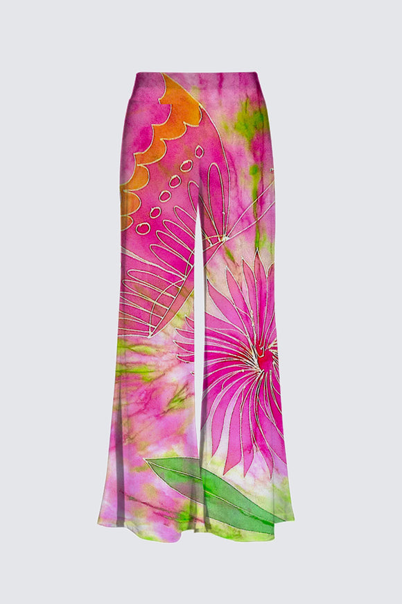 Image of Mila Lansdowne Designer Pant from the design collection  Pink Butterfly