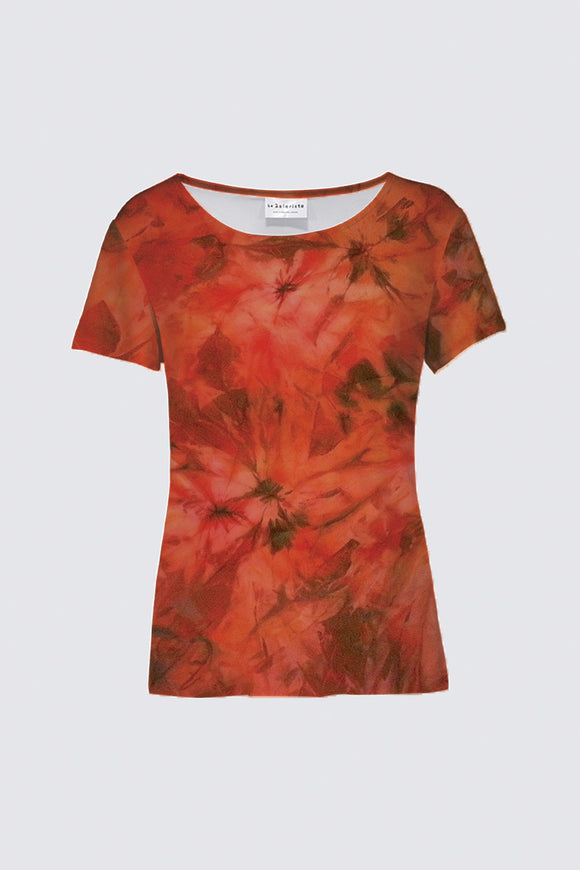 Image of a round-neck tee from Mila Lansdowne's designer collection Garden of passion.