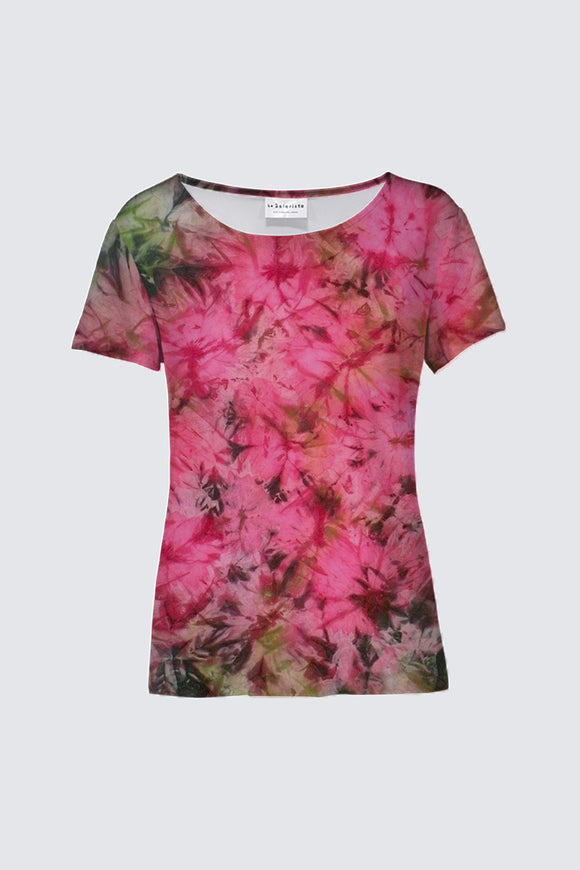 Image of a round-neck tee from Mila Lansdowne's designer collection Romantic Garden Flowers
