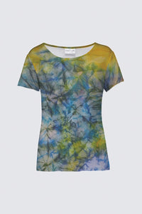 Image of a round-neck tee from Mila Lansdowne's designer collection Tranquil Garden.