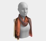 Morning Sky 100%Silk Mila Lansdowne Designer Scarf in 2 sizes