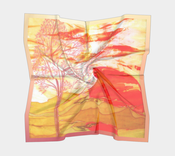 Image of Sunny Afternoon - Mila Lansdowne Designer Scarf (version copper-yellow in 12 variants)